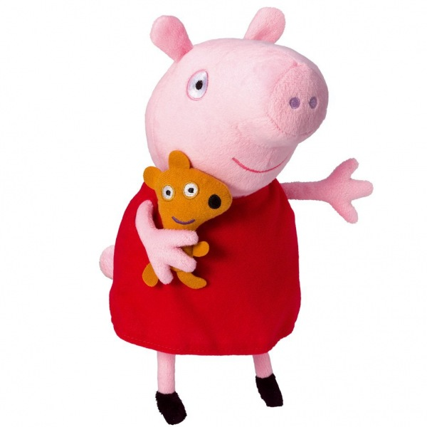 mu ecos de peluche de la peppa pig y george pig. Black Bedroom Furniture Sets. Home Design Ideas
